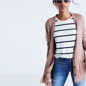Madewell dusty rose cardigan size small